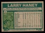 1977 Topps #12  Larry Haney  Back Thumbnail