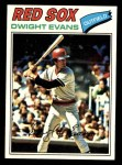 1977 Topps #25  Dwight Evans  Front Thumbnail