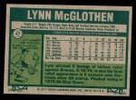 1977 Topps #47  Lynn McGlothen  Back Thumbnail