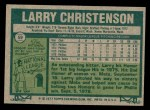 1977 Topps #59  Larry Christenson  Back Thumbnail
