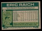 1977 Topps #62  Eric Raich  Back Thumbnail