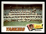 1977 Topps #387   -  Billy Martin Yankees Team Checklist Front Thumbnail