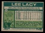 1977 Topps #272  Lee Lacy  Back Thumbnail