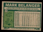 1977 Topps #135  Mark Belanger  Back Thumbnail
