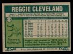 1977 Topps #613  Reggie Cleveland  Back Thumbnail