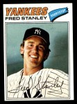 1977 Topps #123  Fred Stanley  Front Thumbnail