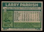 1977 Topps #526  Larry Parrish  Back Thumbnail