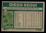 1977 Topps #653  Diego Segui  Back Thumbnail
