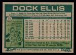 1977 Topps #71  Dock Ellis  Back Thumbnail