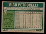 1977 Topps #111  Rico Petrocelli  Back Thumbnail