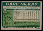 1977 Topps #377  Dave McKay  Back Thumbnail