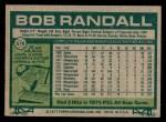 1977 Topps #578  Bob Randall  Back Thumbnail
