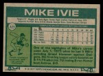1977 Topps #325  Mike Ivie  Back Thumbnail