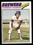 1977 Topps #439  Gorman Thomas  Front Thumbnail
