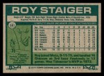 1977 Topps #281  Roy Staiger  Back Thumbnail