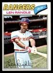 1977 Topps #196  Len Randle  Front Thumbnail
