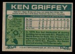 1977 Topps #320  Ken Griffey  Back Thumbnail