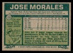 1977 Topps #102  Jose Morales  Back Thumbnail