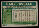 1977 Topps #423  Gary Lavelle  Back Thumbnail