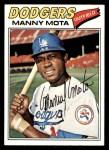 1977 Topps #386  Manny Mota  Front Thumbnail