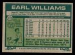 1977 Topps #223  Earl Williams  Back Thumbnail