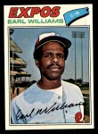 1977 Topps #223  Earl Williams  Front Thumbnail