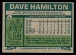 1977 Topps #367  Dave Hamilton  Back Thumbnail