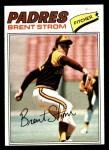 1977 Topps #348  Brent Strom  Front Thumbnail