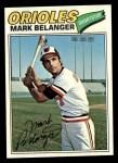 1977 Topps #135  Mark Belanger  Front Thumbnail