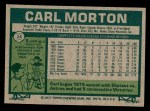 1977 Topps #24  Carl Morton  Back Thumbnail