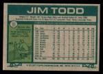 1977 Topps #31  Jim Todd  Back Thumbnail