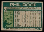 1977 Topps #392  Phil Roof  Back Thumbnail