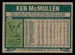 1977 Topps #181  Ken McMullen  Back Thumbnail