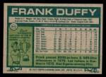 1977 Topps #542  Frank Duffy  Back Thumbnail