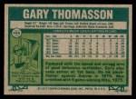 1977 Topps #496  Gary Thomasson  Back Thumbnail