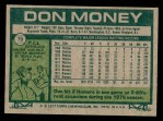 1977 Topps #79  Don Money  Back Thumbnail