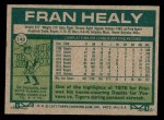 1977 Topps #148  Fran Healy  Back Thumbnail