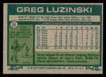 1977 Topps #30  Greg Luzinski  Back Thumbnail