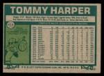 1977 Topps #414  Tommy Harper  Back Thumbnail