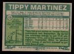 1977 Topps #238  Tippy Martinez  Back Thumbnail