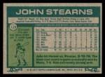 1977 Topps #119  John Stearns  Back Thumbnail