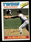 1977 Topps #120  Rod Carew  Front Thumbnail