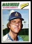 1977 Topps #207  Glenn Abbott  Front Thumbnail