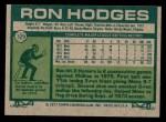 1977 Topps #329  Ron Hodges  Back Thumbnail