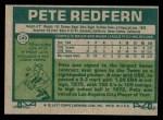1977 Topps #249  Pete Redfern  Back Thumbnail
