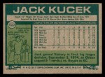 1977 Topps #623  Jack Kucek  Back Thumbnail
