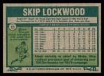 1977 Topps #65  Skip Lockwood  Back Thumbnail