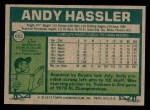 1977 Topps #602  Andy Hassler  Back Thumbnail