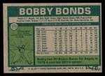 1977 Topps #570  Bobby Bonds  Back Thumbnail