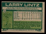 1977 Topps #323  Larry Lintz  Back Thumbnail